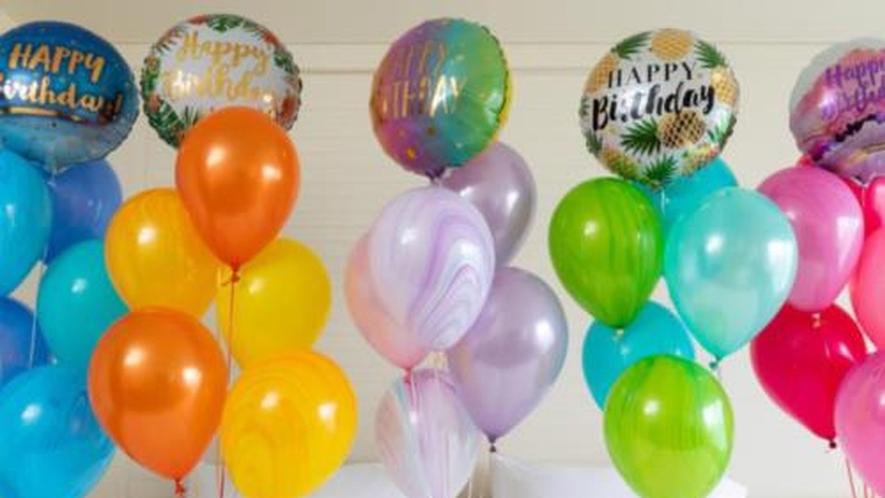 【記念日オプション】お部屋を彩るバルーンアレンジメントでサプライズ演出も可能です