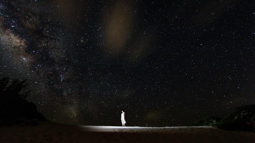 【星空観察ツアー】内地では味わえない宮古島の星空、星座や宇宙について、楽しく解説します。