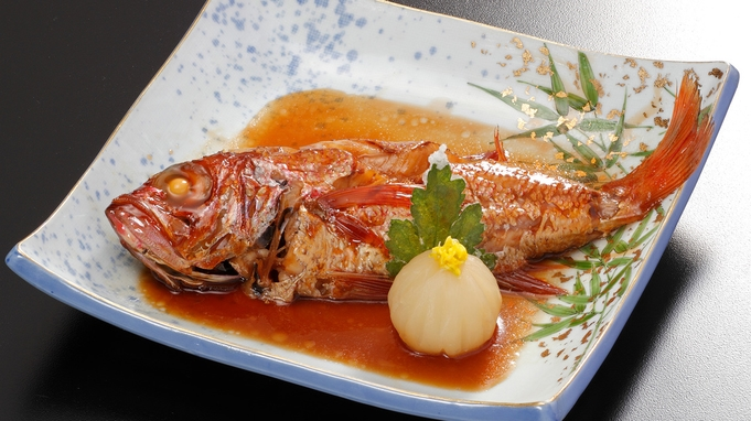 U3D【夕食ダイニング】高級魚ノドグロ付特選ディナー♪ノドグロ+造り+和牛/温泉貸切風呂特典