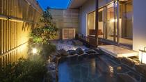 カバナルームの温泉露天風呂