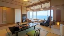 海を眺めるマッサージチェア付和室(10帖)