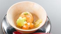 春の料理一例:蒸物島田筍万頭