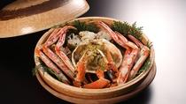 冬の料理一例:焼物 ズワイ蟹宝楽焼き
