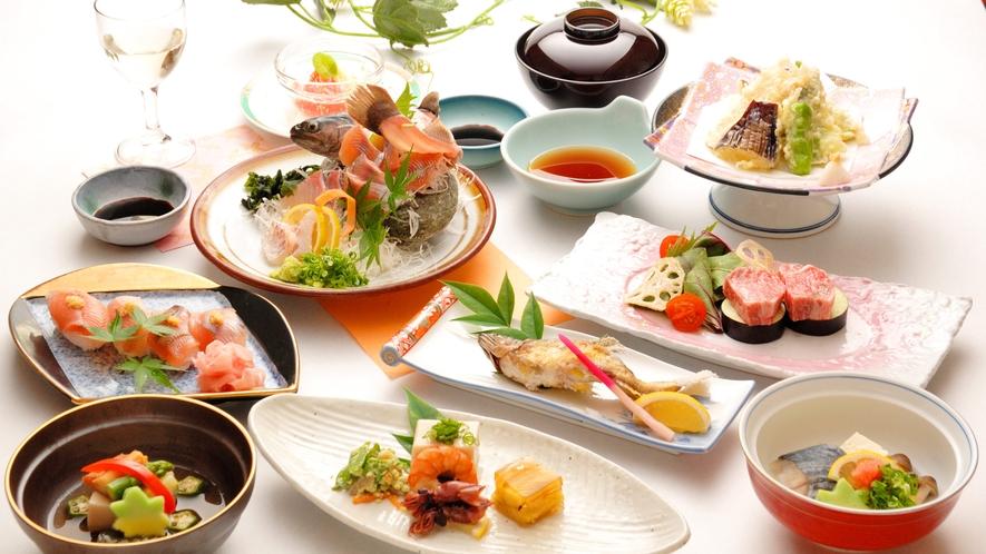 【夕食の一例】桜会席