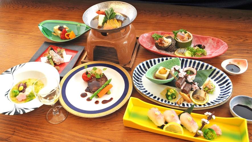 【夕食の一例】雅会席:料理長が腕をふるった当館最高峰の特別会席料理となります。