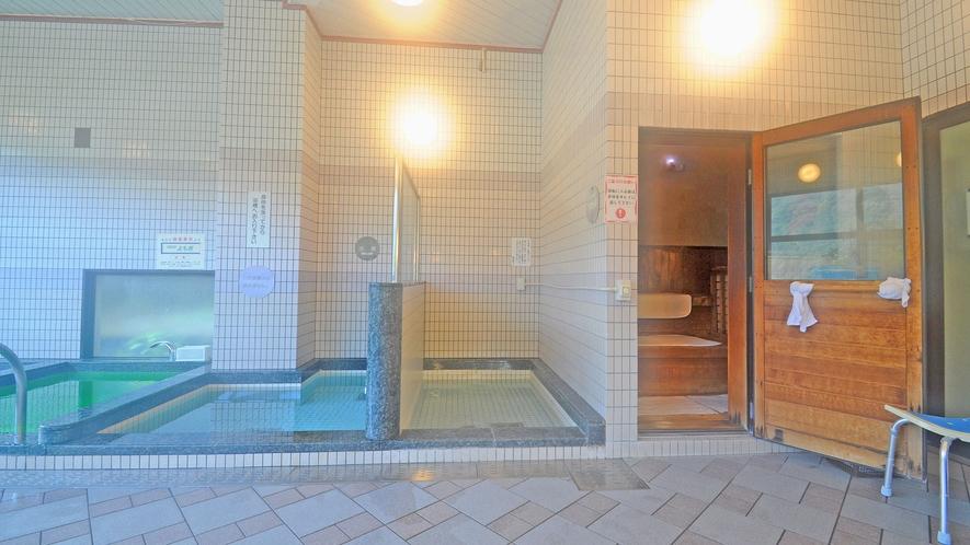 【温泉】水風呂・サウナ