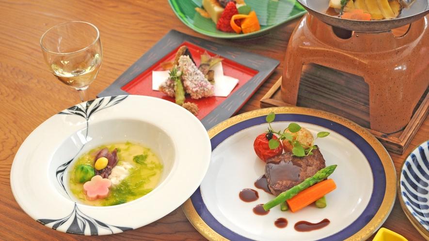 【夕食の一例】雅会席:お酒も豊富に取り揃えております。