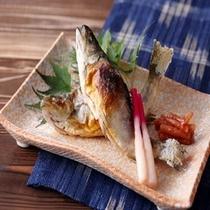 【川魚の塩焼き】