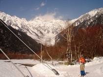 冬の上高地1