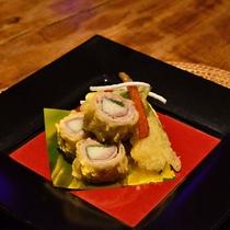 *【夕食一例】地元産の食材の美味しさを引き立たせた料理