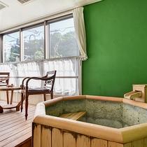 *〔早蕨〕バスルームエリアもグリーンを基調とした爽やかなお色に仕上げました