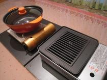 鍋用と焼き肉用コンロ