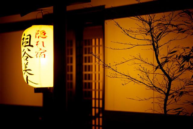 玄関の提灯