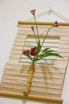 掛け軸の花
