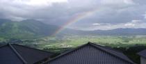 山の景色と虹332*750