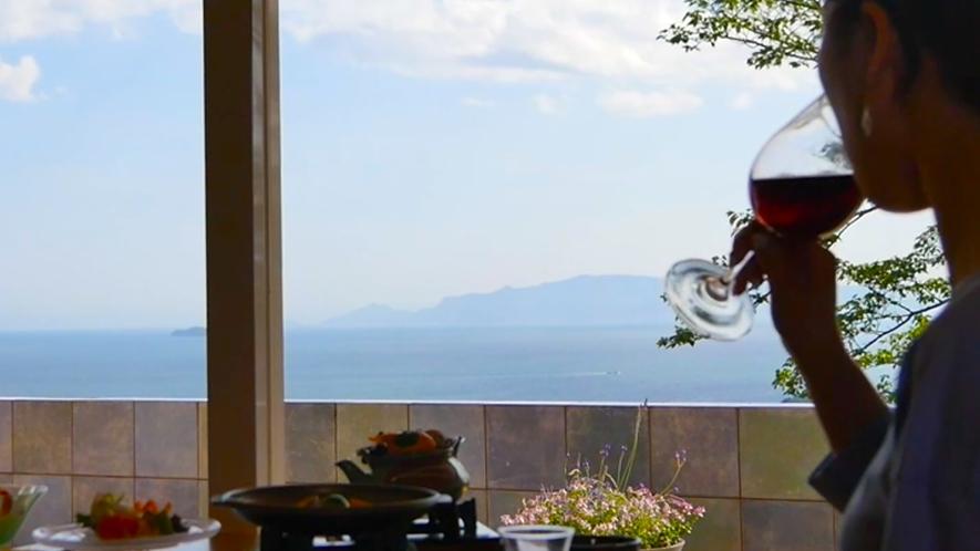 瀬戸内の景色を見ながら旬のお料理に舌鼓