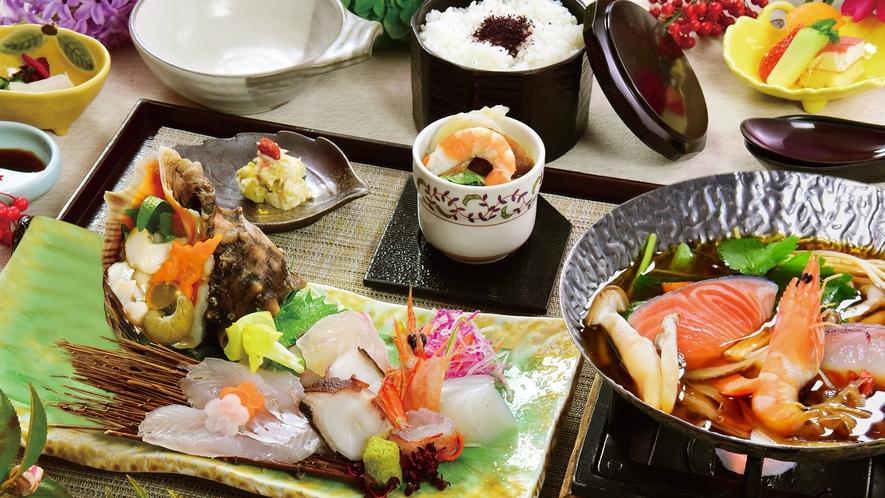 播磨灘の恵みをたっぷりと。新鮮な魚介の美味しさをお楽しみください。