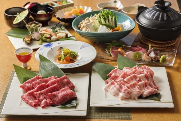 【夏旅セール】2つの旨味を食べよう【黒豚&黒牛の2種しゃぶしゃぶ】プラン