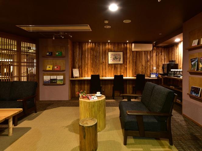 ライブラリーラウンジではセルフサービスで挽きたて珈琲や紅茶・ハーブティーがお楽しみ頂けます。