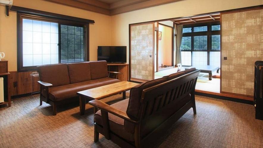 【リビング付和洋室】和室10畳+洋室ツイン◆シャワー付 一例