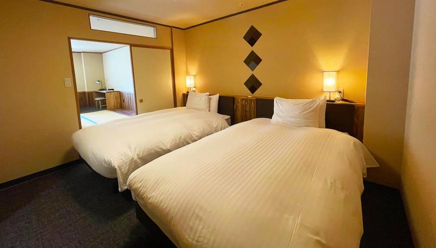【モダンスイート】和室12.5畳+ツインベッド◆シャワー付