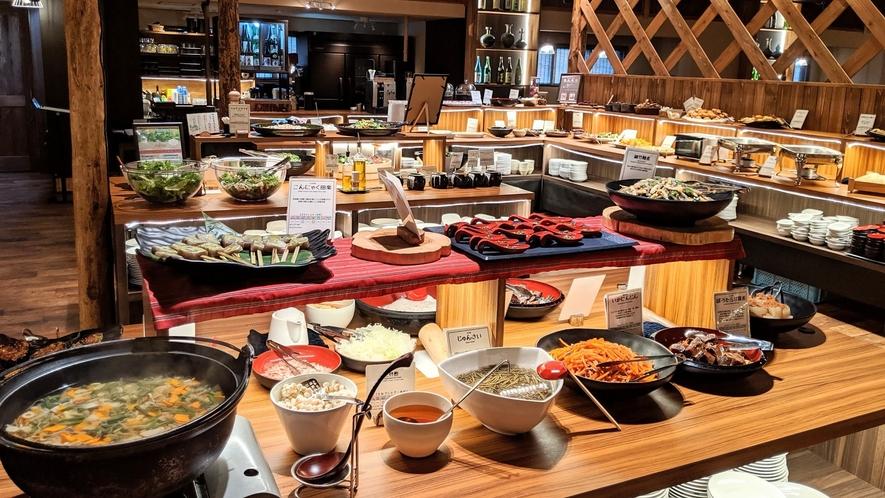 *夕食ビュッフェ一例 会津創作郷土料理ビュッフェ