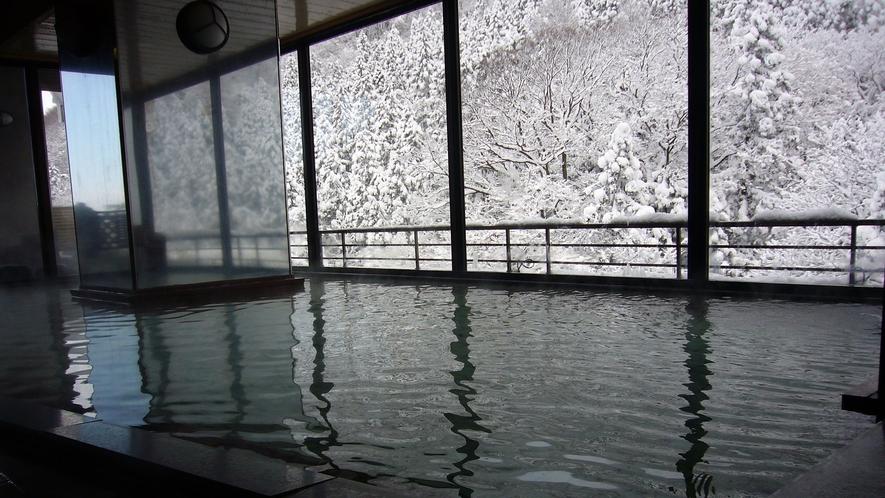 *展望大浴場 冬 雪景色