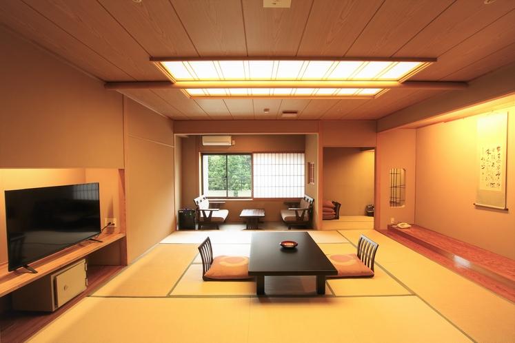 【新館和室/温泉街眺望】和室12.5畳+広縁+踏込◆シャワー付一例