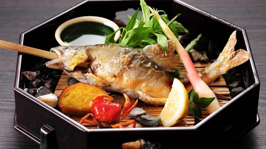 *【別注料理】川魚の塩焼き