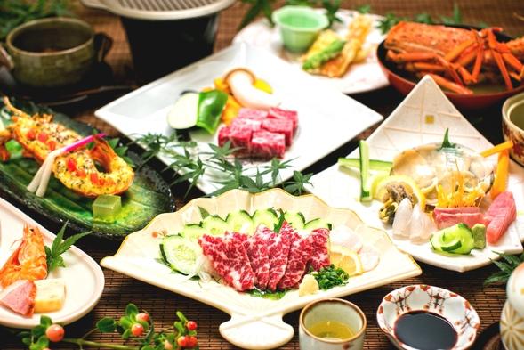 【肉or魚orどっちもよくばり☆】あなたはどちら派?自由にチョイスで分け合う☆選べる豪華会席プラン♪