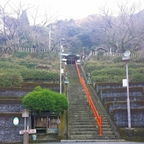 温泉神社社殿まで
