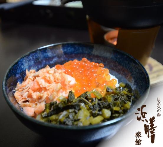 朝食 三食丼/一例