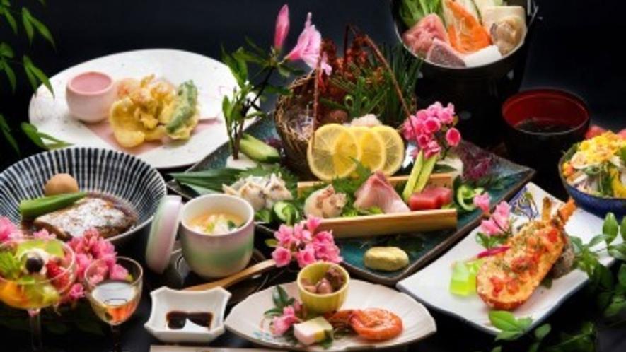 豪華海鮮料理一例