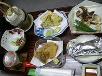松茸天ぷらコース
