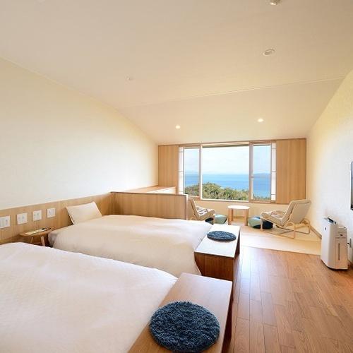 全室オーシャンビュー♪和洋室(禁煙)のお部屋です。瀬戸内海を一望!