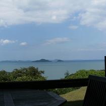瀬戸内の多島美(ラウンジからの景色)