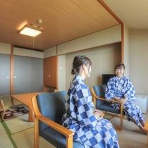 全室オーシャンビュー♪和室10畳(禁煙)のお部屋です。瀬戸内海を一望!多島美をお楽しみいただけます。