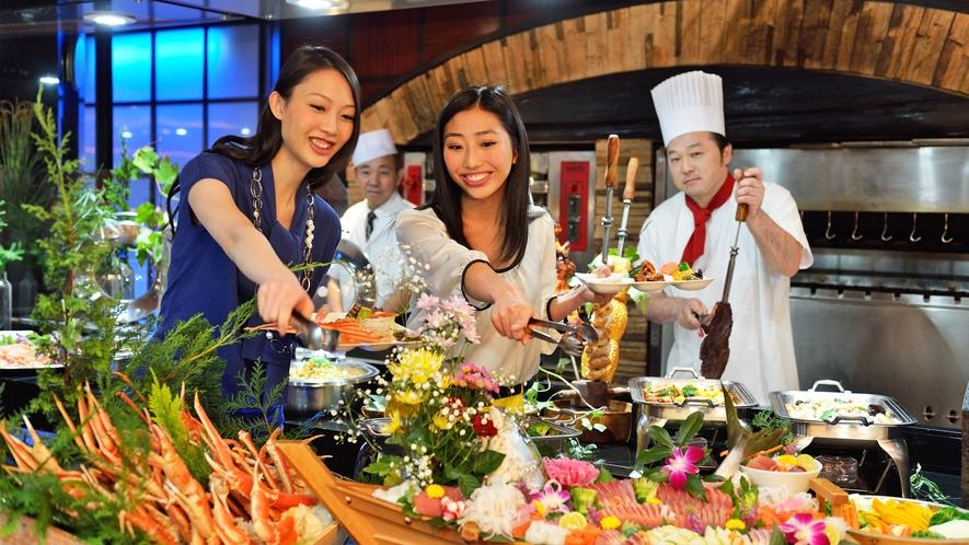 【食事】バイキング蟹食べ放題付 イメージ