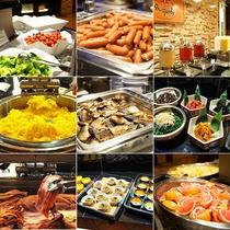 【食事】モーニングホテルバイキング!和食洋食30種以上!ドリンクバーやフルーツバーも充実♪