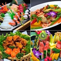 【食事・バイキング】和食、洋食、中華、フルーツ イメージ