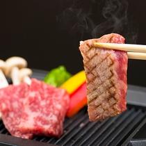 【食事】口の中でトロけるようなブランド牛「飛騨牛ステーキ」約50g!