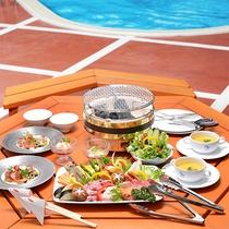 【食事】屋外ガーデンで楽しむBBQのコースメニュー!