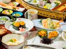 ムラサキウニプランの料理例