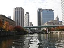 天気が良い日は堂島川沿いや中之島をお散歩などどうでしょうか。春は桜で賑わっています。