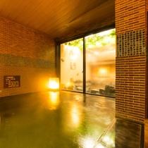 ◆夜通し入れる男女別天然温泉◆男性大浴場<内湯>
