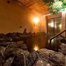 ◆夜通し入れる男女別天然温泉◆女性大浴場<露天風呂>