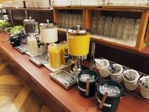 朝食バイキングメイン会場-本館◆ドリンクコーナー