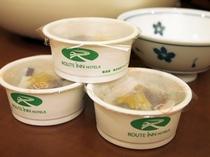 朝食バイキングメイン会場-本館◆ルートイン納豆