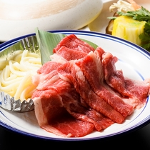 夕食 大塚牛のすき焼き