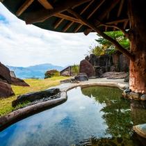 露天風呂 阿蘇五岳を一望する絶景風呂